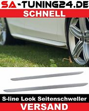 For Audi A4 S4 B8 8K A6 A5 B8 4G 8T Side skirts  strips sidebars S-Line sill #08