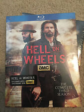 Hell on Wheels: The Complete Third Season (Blu-ray Disc, 2014, 3-Disc Set) NEW