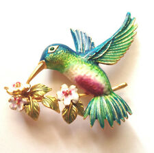 Joan Rivers Hummingbird Flights of Fantasy Pin Brooch