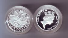 1990 SILVER Proof $1 Australia Kangaroo Coin out of Masterpieces Set *