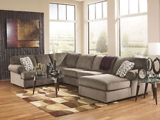 TAMPA-Large Modern Brown Microfiber Living Room Sofa Couch Chaise Sectional Set