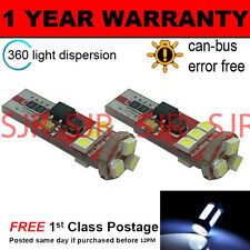 2X W5W T10 501 CANBUS ERROR FREE WHITE 9 SMD LED SIDELIGHT BULBS BRIGHT SL104305