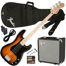 Fender Squier Affinity P Bass with Rumble 15 Amplifier Set - Brown Sunburst