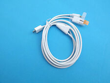 Car Aux 3.5mm  Audio Micro USB Charge Data Cable for Galaxy S6 S4 Note 3 2 White