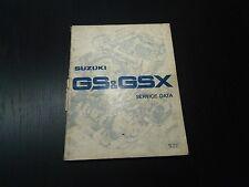 Suzuki GS GSX 1980 Service Data Daten Werkstatt- handbuch  Reparaturanleitung