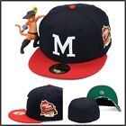 New Era Milwaukee Braves Fitted Hat Cap 1957 World Series Side Patch MLB 59fifty