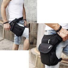 Men's Canvas Waist Leg Drop Bag Motorcycle Travel Hiking Belt Hip Bum Fanny Pack