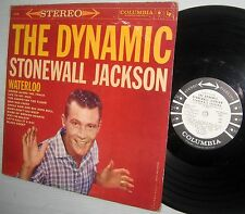 Dynamic STONEWALL JACKSON Waterloo WHITE LABEL Promo STEREO Rockabilly LP cc