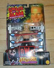 1999 WCW NWO Lex Luger Wrestling figure Smash and Slam MOC WWF WWE Total Package
