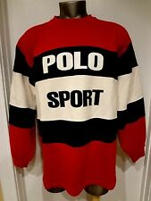 VINTAGE POLO SPORT RALPH LAUREN MEN SWEATER SZ XL STADIUM P WING.