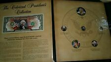 COLORIZED PRESIDENT'S COIN & NOTES COLLECTION American Historic Society COA