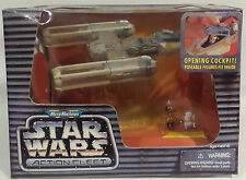 STAR WARS : A NEW HOPE : ACTION FLEET Y-WING & 2 SMALL FIGURES (F)