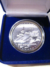 US NAVY - USS INDEPENDENCE CV-62 Challenge Coin W/ GIFT BOX