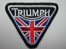 Triumph Union jack sew / iron on patch biker UK Seller NEW classic embroidered