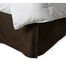 "100% Microfiber Split-Corners Solid Bed Skirt (Bed Ruffle), 14"" Drop"