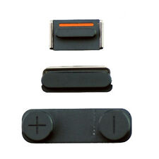 Genuine iPhone Slate Grey 5S Key Set - Power/Lock Mute & Volume Button Original