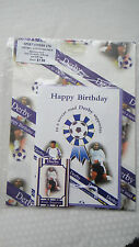 Derby football club gift wrapping set of card, envelope, gift wrap, gift tag