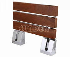 sundely wall mounted Solid Wood shower seat Fold Away Easy Clean- Max 150kg