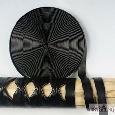 NEW STC001 5METERS BRAID SAGEO TSUKA ITO FOR HILTS WRAP BLACK MANMADE LEATHER