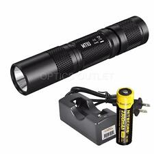 Nitecore MT1U 900mW 365nm UV Blacklight LED Flashlight w/ 18650 Battery, Charger
