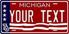 Michigan 1976 License Plate Tag Personalized Auto Car Custom VEHICLE OR MOPED