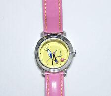Looney Tunes Tweety Bird Quartz Watch Pink Band