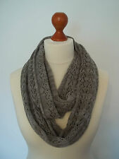 Stunning cashmere blend lace snood / infinity scarf col. GREY MIX