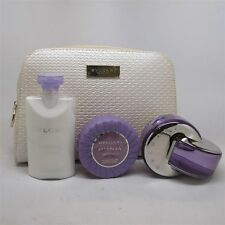 Omnia Amethyste by Bvlgari 4 Pc Set: 2.2 oz EDT Spray, Body Lotion, Soap & Bag
