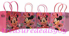 DISNEY MINNIE MOUSE FAVOR BAGS 6 PCS PARTY GOODIE CANDY GIFT TREAT BIRTHDAY BAG