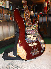 Vintage 1970's Fender Precision PJ-90 Neck Bass Guitar in Mocha, DiMarzio TRI-