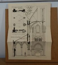 Antique Architects print ,St philips Church Stepney The builder 1890 42cm x32cm