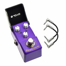 Joyo JF-320 Purple Storm Fuzz Ironman Mini Guitar Effect Pedal with Patch Cables