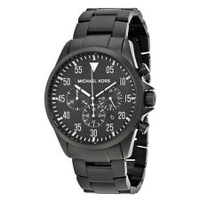 Michael Kors Gage Black Ion-Plated Stainless Steel Chronograph Mens Watch MK8414