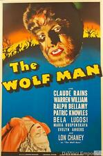 The Wolf Man Vintage Movie Poster Lithograph Lon Chaney Bela Lugosi S2 Art