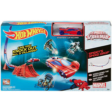 MARVEL ULTIMATE SPIDER-MAN HOT WHEELS SPEED DROP TRACK PLAY SET SPIDERMAN TOY
