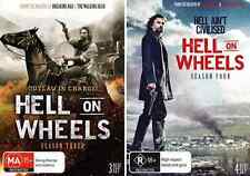 HELL ON WHEELS : COMPLETE Seasons 3 & 4 : NEW DVD