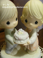 Precious Moments~114021~Happy Anniversary~ Happy Birthday To Our Love~CAKE~crown