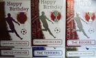Boys Men's English Football Club Metallic Birthday Card & Envelope (18 Clubs)