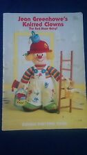Knitting Pattern Book JEAN GREENHOWE'S KNITTED CLOWNS Characters Dolls