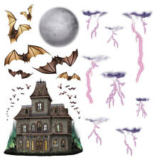 Halloween Party Haunted House & Night Sky Scene Setter Add on Prop Decorations