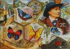 Butterflies & Ornithologists J H Fabre Malawi 2012 s/s hexagon stamps MNH #VG678