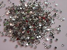 Bag of Over 10000 Silver Flat Back Nail Art Craft Diamante Gem Rhinestone#23B215