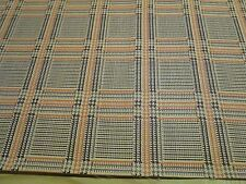 7 & 1/3 YARDS X 50 INCHES OF VINTAGE CAR AND AUTO VINYL A PLAID UPHOLSTERY