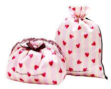 2x Women Girl Sweet Heart Socks Underwear Sanitary Privacy Organiser small bag