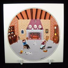 Villeroy & Boch 'By the Fireplace' (Laplau 5) Naif Ceramic Tile Trivet IN BOX