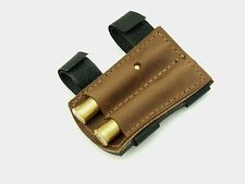 Leather Bullet Shell Holder, velcro, ammunition cartridge shooting rifle shotgun