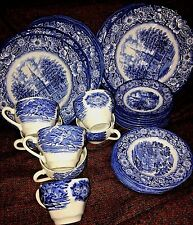 Set 30 pieces Vintage Liberty Blue Staffordshire Ironstone China  blue and white