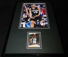 Sam Cassell Signed Framed 11x17 Photo Display Timberwolves