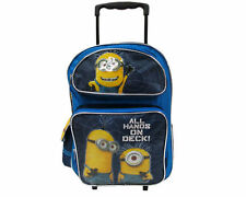 "Despicable Me 2 Minion 16"" Rolling Backpack - All Hands On Deck! - Licensed"