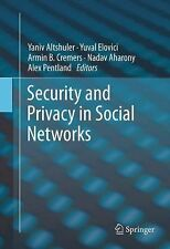 Security and Privacy in Social Networks (2012) Hardcover @ $96